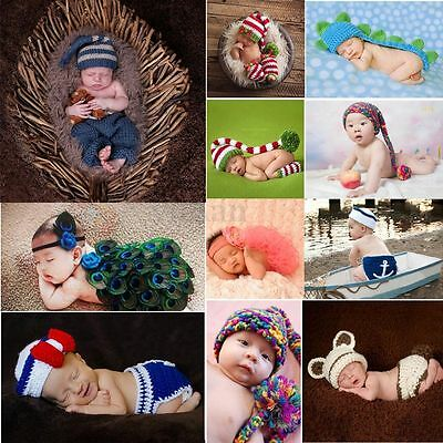 Bébé Déguisements de Animal Chapeau Crochet Tricot Photographie Nouveau-né Photo