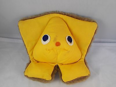 "Fisher Price Squeak-A-Boo Rattle 7"" Tall Finger Puppet Plush Vintage #416"