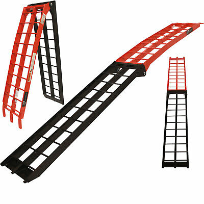 Black Pro Range B5222 Aluminium Folding Runner Motorcycle Bike Ramp Van Loading