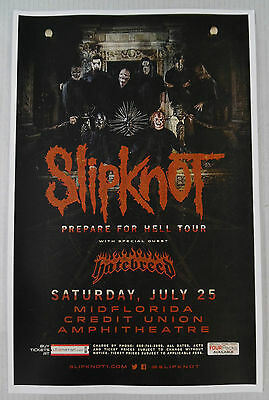 Slipknot Prepare For Hell Tour Original Concert Poster 11x17 2015 Print