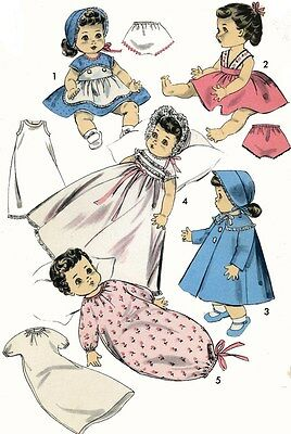 Doll Clothes PATTERN 8454 for 16 inch Betsy Wetsy Tiny Tears Dydee by Ideal