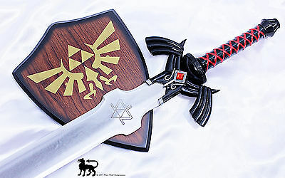 Legend of Zelda - Link's Steel Hylian Knight Black SHADOW MASTER SWORD - Ocarina