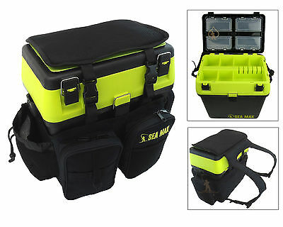 Sea Fishing Seat Box & Rucksack SEA MAX RODDARCH Tackle Box Back pack Ruck Sack