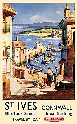 St Ives Vintage Rail Advert fridge magnet   (og)