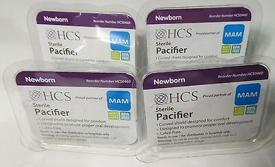 4 New & Sealed Mam Sterile Soft Silicone Pba Free Comfort Pacifiers Newborn