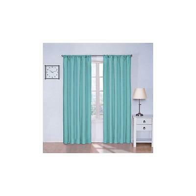 "Eclipse Kids Kendall Blackout Window Curtain Panel 42"" X 63"" Turquoise"