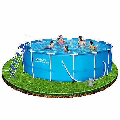 Bestway 15ft x 48in Frame Swimming Pool with pump, ladder, cover & ground cloth