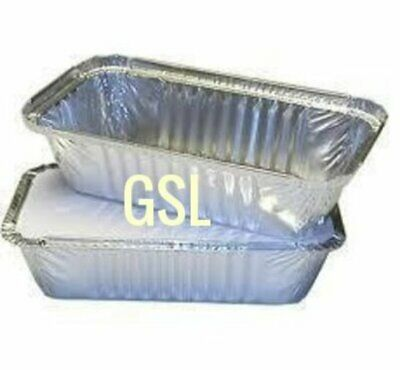 GSL No6a 25 x LARGE ALUMINIUM FOIL FOOD GRADE STORAGE CONTAINERS & LIDS