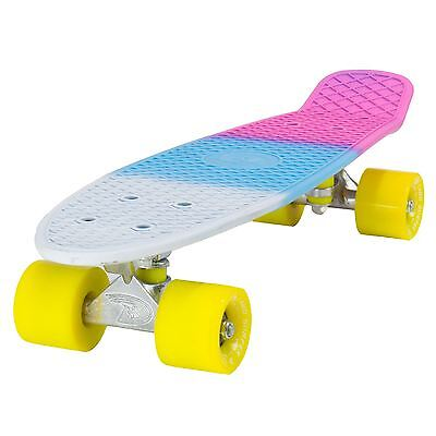 "Land Surfer Cruiser Skateboard 22"" 3-TONE SODA BOARD YELLOW WHEELS"
