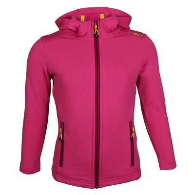 Campagnolo Mädchen 3E65145 Stretch Hoodie Sweatjacke Pink SS16 fuxia-scarlet