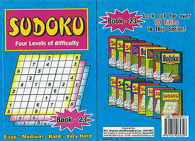 Sudoku Book 110+ Puzzles A5 Size Book Brand 4 Levels Of Difficulty Book 23