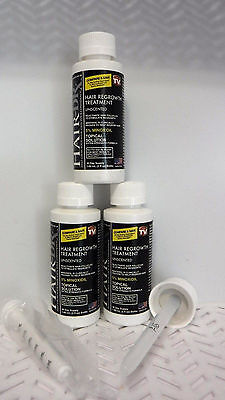 3 Hair DRx Men's Extra Strength MINOXIDIL Regrowth Treatment 2oz exp 7/19 SEAL