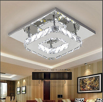 NEW Square 20cm 12W LED Crystal Ceiling lights chandeliers Aisle light H501HC