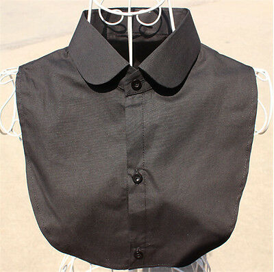 Women Fake False Half Shirt Blouse Detachable Collar Choker Necklace Black/White
