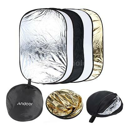"""24""""X36"""" 60X90CM 5in1 Multi Collapsible Portable Photo Light Reflector Disc 0G7B"""