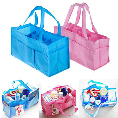 Portable Baby Organizer Bag Diaper Nappy Bottle Changing Divider Storage Handbag