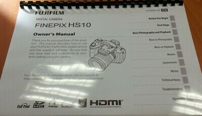 Fujifilm Hs10 Fully Printed Instruction Manual/user Guide Handbook 151 Pages A5