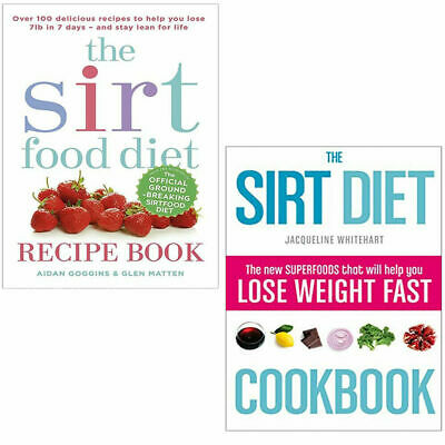 Sirtfood Diet Collection 2 Books Set Pack The Sirt Diet Cookbook,The Sirtfood PB