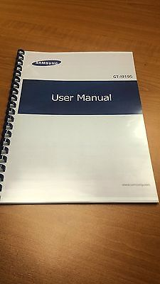 SAMSUNG GT-i9195 Galaxy S4 MINI PRINTED INSTRUCTION MANUAL USER GUIDE 135p A4