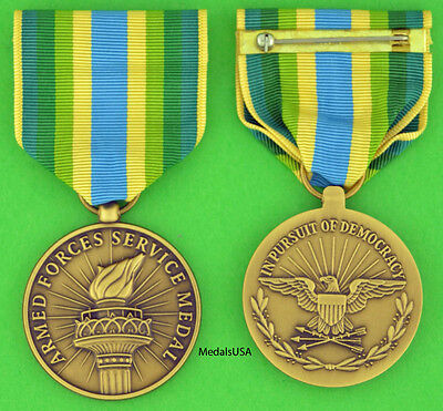 Armed Forces Service Medal (Bosnia) - Full Size made in the USA -  USM092 AFSM