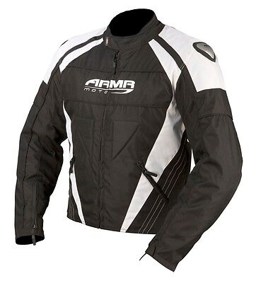New ARMR Moto Itami Textile Waterproof Black Motorcycle Motorbike Sports Jacket