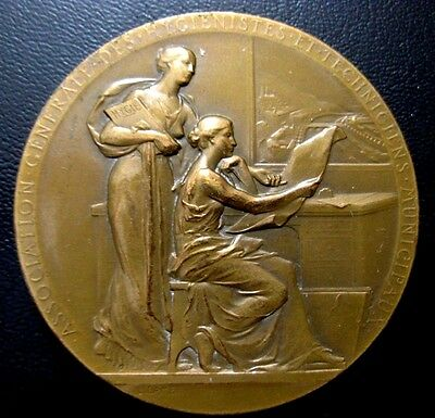 Bronze Medal Signed L. Lamer / General Association Of Municipal Hygienist / M.93