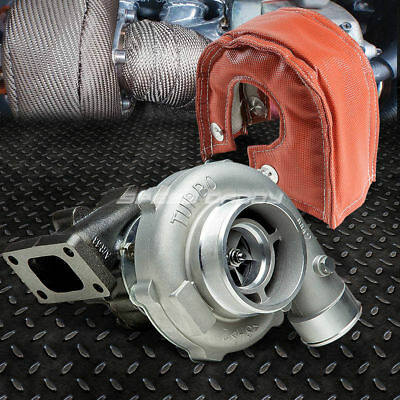 T04E T3/t4 .63 A/r Ceramic Ball Bearing Turbo Stage Iii 300Hp+Red Heat Blanket