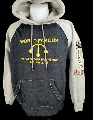 Gold And Silver Pawn Shop Las Vegas Pawn Stars Embroidered Hoodie Sweatshirt S