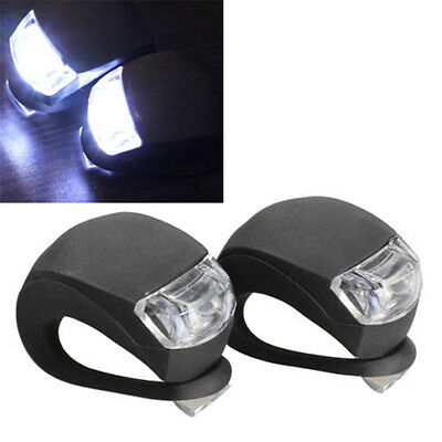 2 PCS Silicone Bike Bicycle Cycling Head Front Rear Wheel LED Flash Light Lamp