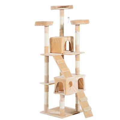 PawHut Cat Tree Scratcher Activity Center Cando Scratching Post Toy Bed 170H(cm)