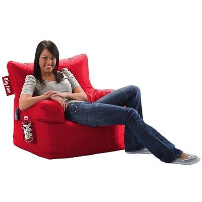 Big Joe Dorm Chair in SmartMax Febrics-Flaming Red 645613 Bean Bag NEW