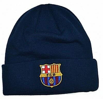 FC Barcelona woven turned up Beanie Hat - official licensed product  (bb)