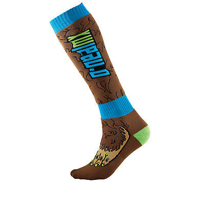 Oneal Pro Mx Big Foot Brown Blue Off Road Quad Motocross Boots Socks Ghostbikes