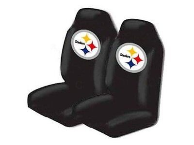 Set Of 2 Pittsburgh Steelers Car Truck Universal Fit Front Bucket Seat Covers