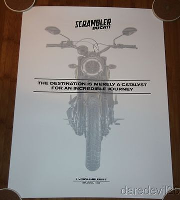 2015 Ducati Scrambler Race Day Promo Motorcycle Dealership Poster