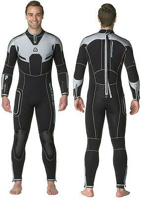 NEW Waterproof W4 Mens 5mm Wetsuit Semi Dry Rear Entry Back Zip Premium Quality