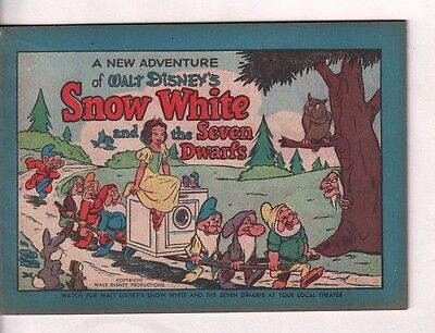 Walt Disney Snow white and the seven dwarves Bendix Promotional Ad 1952  EX