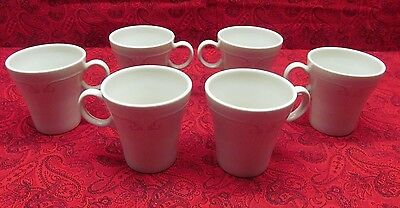 Syracuse China Melrose Set Of 6 Coffee Tea Cups Restaurant Ware Pink Scroll Line