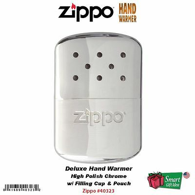 Zippo Hand Warmer, High Polish Chrome, 12-Hour #40323