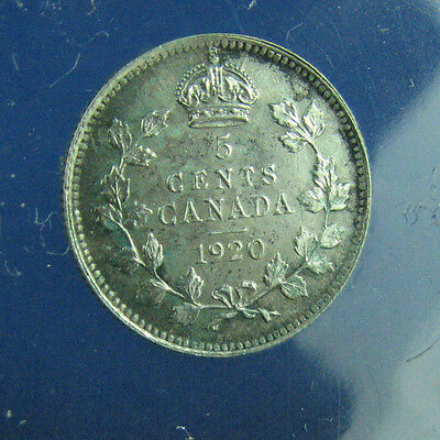 Canada 1920 5 cents very nice coin About UNC