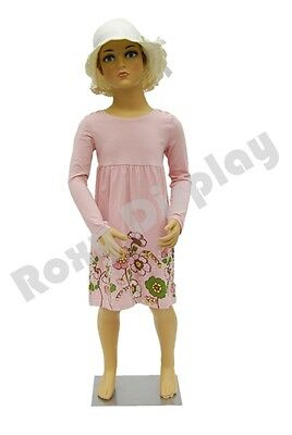 Child Plastic Realistic Mannequin Dress Form Display #PS-KD-5+FREE Wig