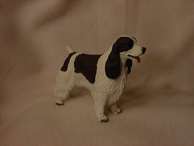 SPRINGER SPANIEL FIGURINE dog HAND PAINTED COLLECTIBLE Statue liver brown puppy