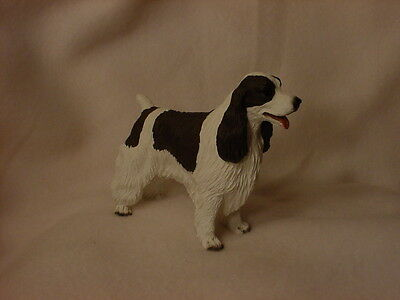 SPRINGER SPANIEL FIGURINE dog HAND PAINTED statue COLLECTIBLE liver brown puppy