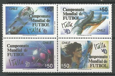 CHILE. 1990. World Cup Football - Italy Set. SG: 1275a. Mint Never Hinged.