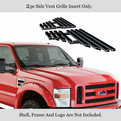 For 2008-2010 Ford F250/F350/F450/F550 Black Side Vent Grille Grill Insert