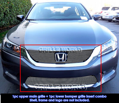 For 2013-2015 Honda Accord Sedan Billet Grill Insert Combo