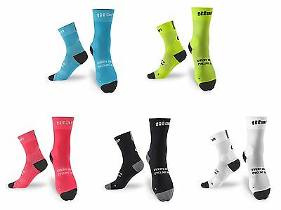 Titan Race Colorful Athletic Sports Cycling Bike Socks 1pair Free size 24-28cm
