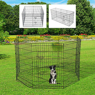 "PawHut 36"" Pet Cage Dog Playpen 8 Panel Crate Puppy Portable Fence Metal Wire"