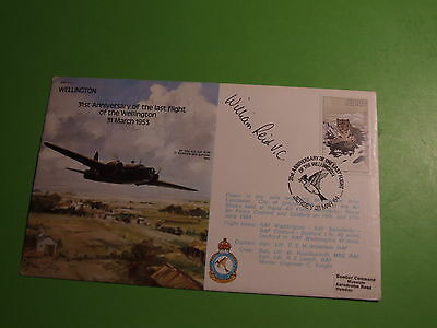 "Bomber Series Raf B21 Cover Signed William "" Bill "" Reid Vc"