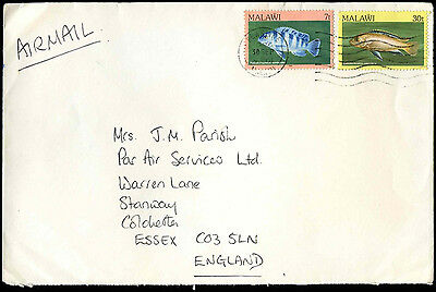 Malawi 1986 Commercial Airmail Cover To UK #C32511